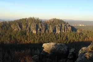 Foto Blick vom kleinen auf den großen Bärenstein