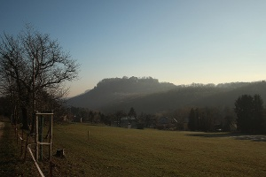 Foto Blick von Thürmsdorf zur Festung Königstein