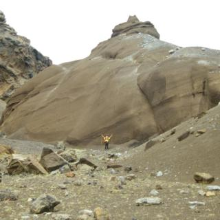 Bizarre rock formations of volcanic ash