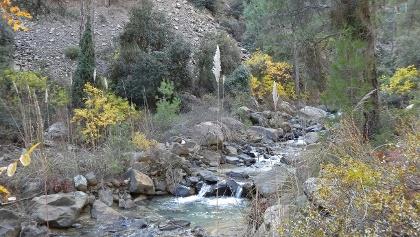 Der Oberlauf des Karkotis Flusses