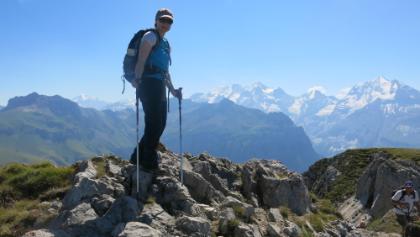 Sicht vom Gipfel zu Blüemlisalphorn und Doldenhorn (rechts)