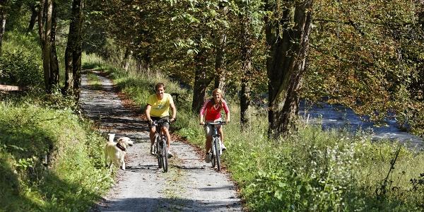 Radfahren entlang der Feistritz