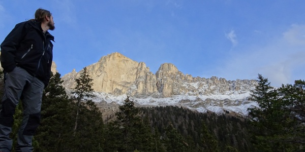 At the foot of the Rosengarten group in winter (c Michael Steinwandter)