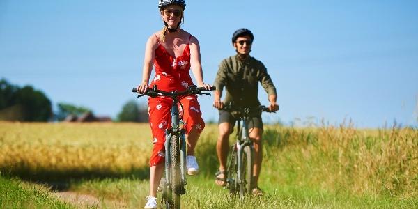 Fahrradfahrer bei Wiedensahl