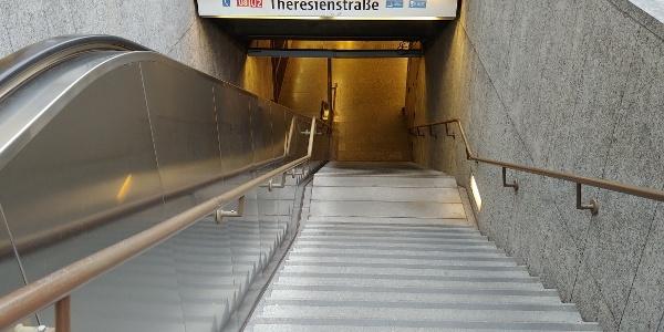 Starting point: underground station Theresienstraße