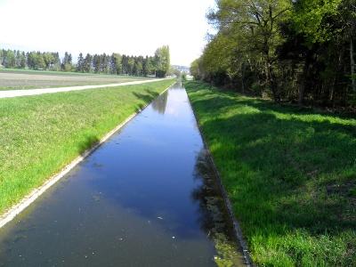 Entwässerungskanal im Grossen Moos