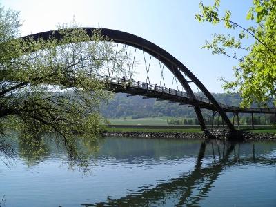 Rotary-Brücke über den Canal de la Broye