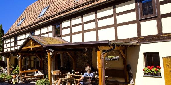 Terrasse Ferienwohnungen im Eichhaus