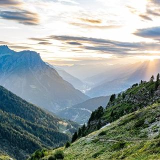Sonnenuntergang im Gantertal bei der Bortelhütte