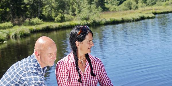 Wandern am Waldsee in Lindenberg