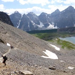 Wanderer am Sentinel Pass.