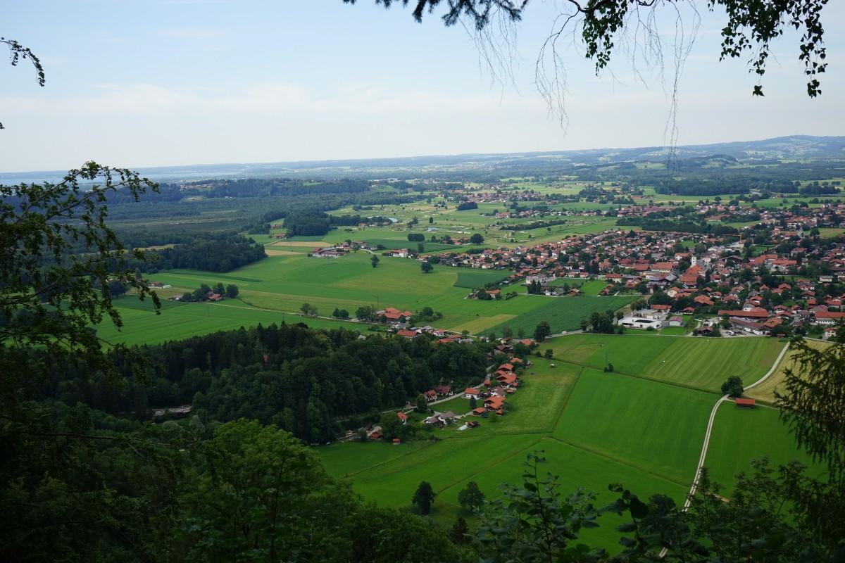 Ausblick auf Grassau von der Zeppelinhöhe