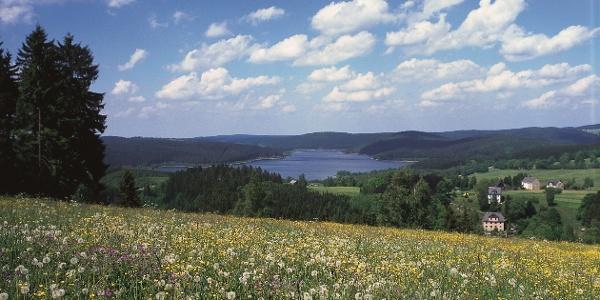 Blick zur Talsperre Eibenstock