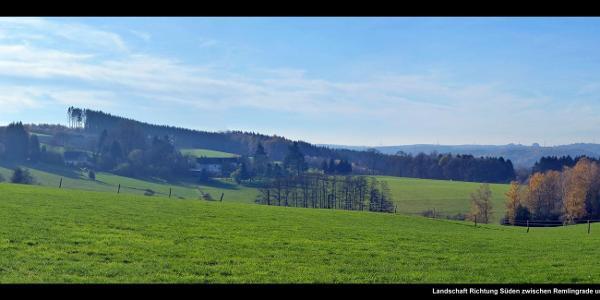 Landschaft Richtung Süden zwischen Remlingrade und Birken