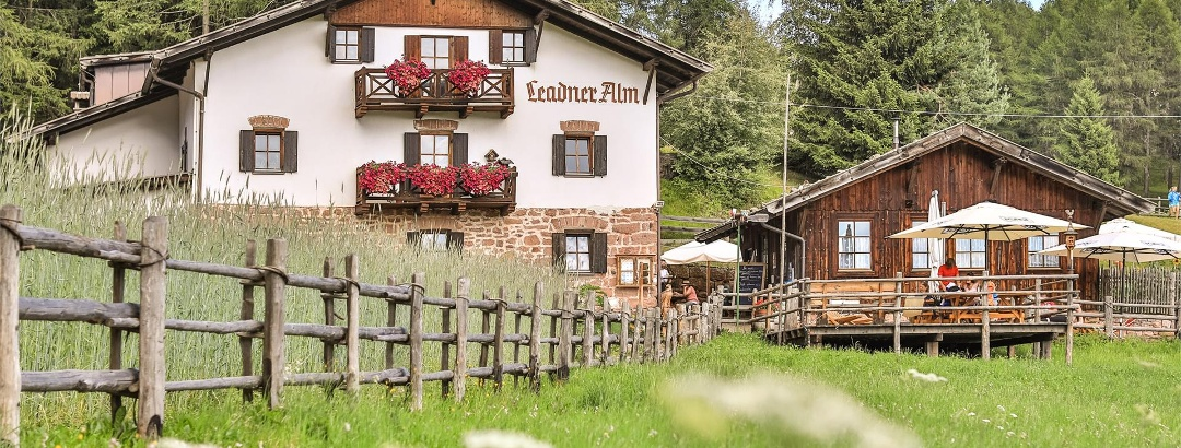 The Leadner Alm Mountain hut in Vöran, South Tyrol