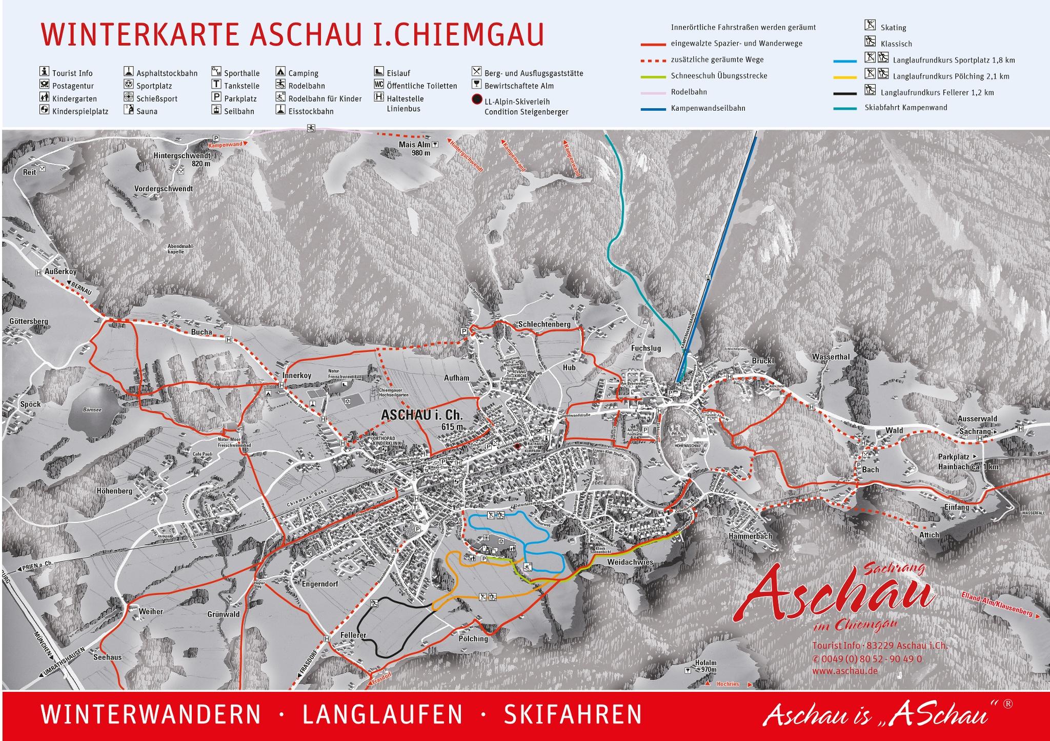 Loipenplan Aschau