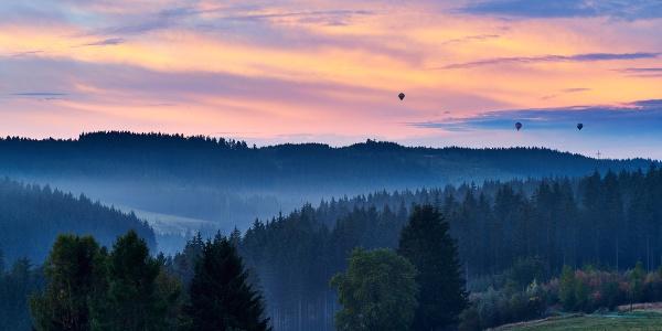 Sonnenaufgang bei Steinbach am Wald