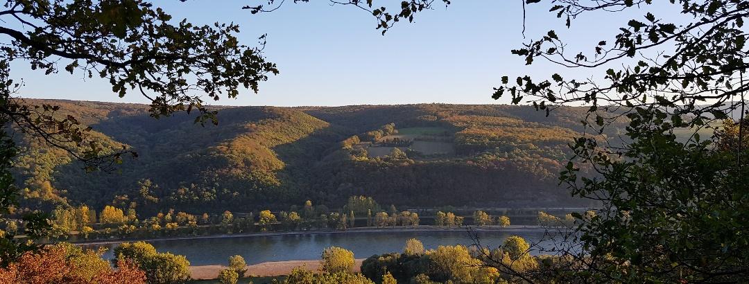 Wanderung auf dem Traumpfädchen Spayer Blick - Blick auf den Rhein