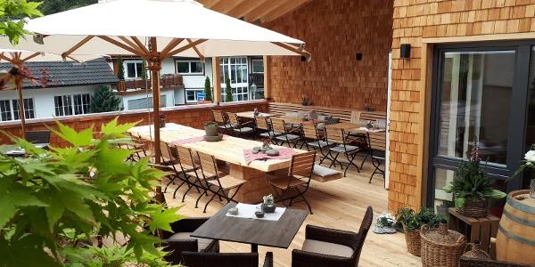 Terrasse im Hotel Kimmig