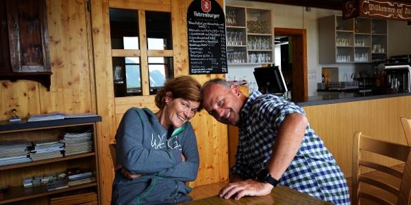 Hüttenpächter Markus und Sabine