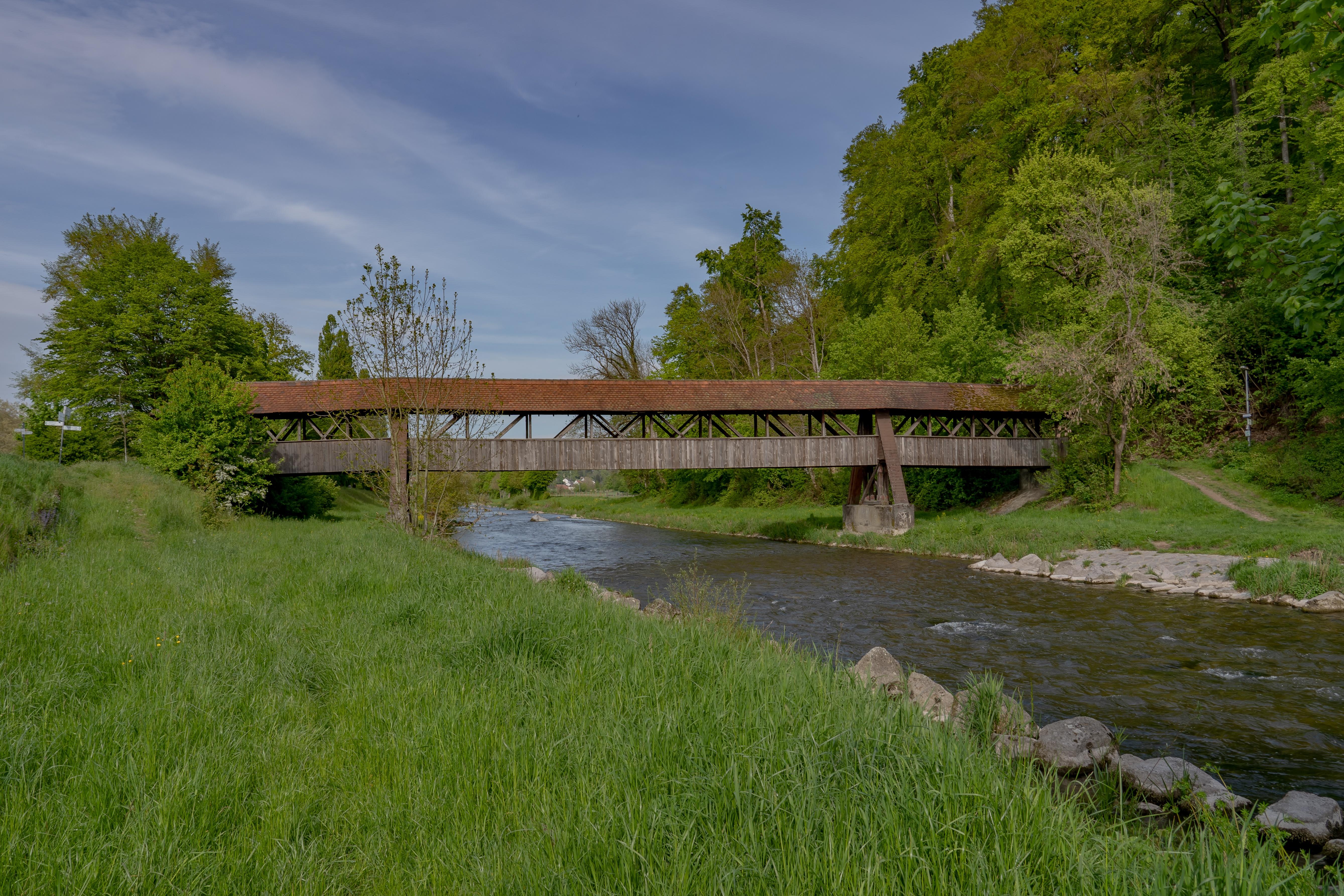 Holzbrücke an der Wutach in Tiengen