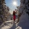 Lumikenkäilijä Konttaisen reitillä, Kuusamossa
