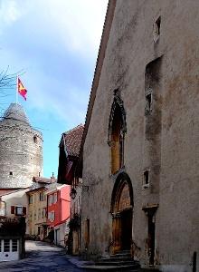 Orbe: Kirche N.D und Bergfried