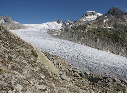 Rhonegletscher, Quelle der Rhone (5. Etappenziel).
