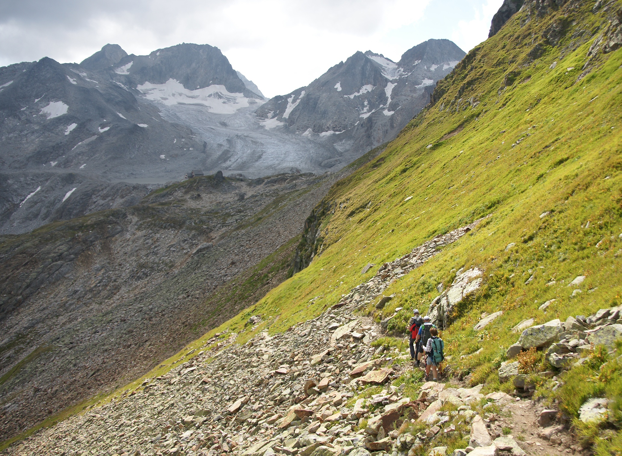 Furkavariante: Tälligrat Richtung Rotondo-Hütte