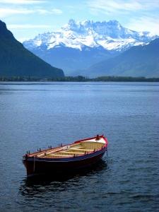 Lac Léman bei Montreux mit Dents du Midi