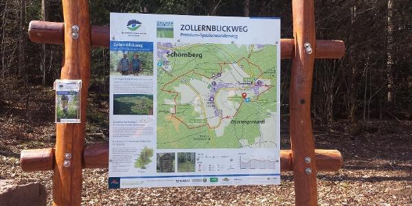 Die Starttafel mit der Übersicht der Route und weiteren wichtigen Informationen