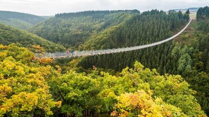 Die Hängeseilbrücke Geierlay im Hunsrück