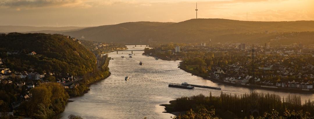 Fernblick Richtung Koblenz