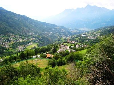 Blick von Torre di Gridnot auf Aosta