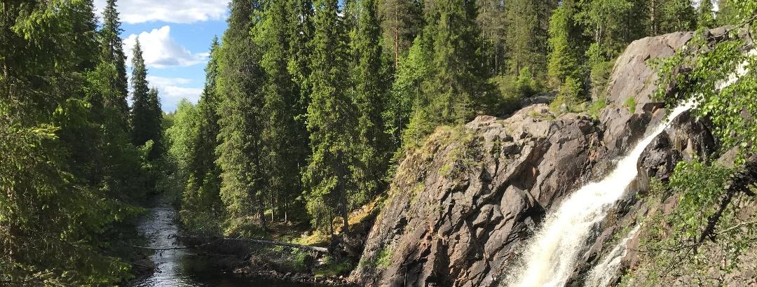 Arctic Lakeland, Paljakka, Hepoköngäs, one of the highest waterfalls in Finland
