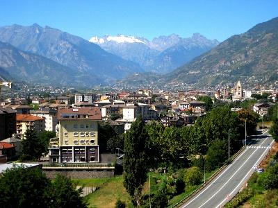 Blick zurück nach Aosta