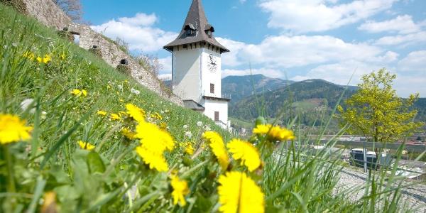 Uhrturm Brucker Schlossberg