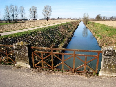 Entwässerungskanal bei Orio Litta