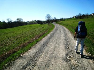 endlich wieder Hügel kurz vor Castellazzo