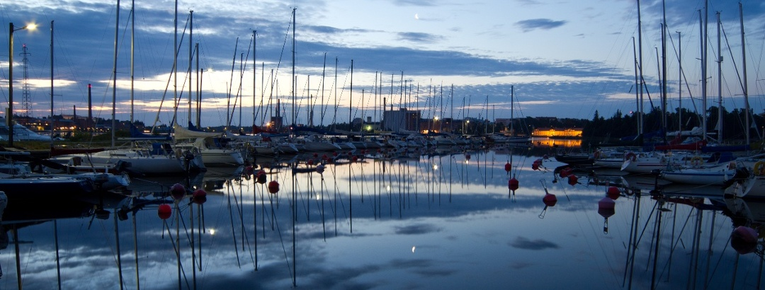 Harbour on a summer evening