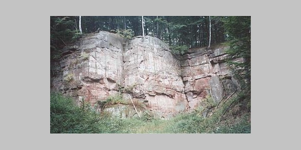Sandsteinfelsen bei Ebergötzen