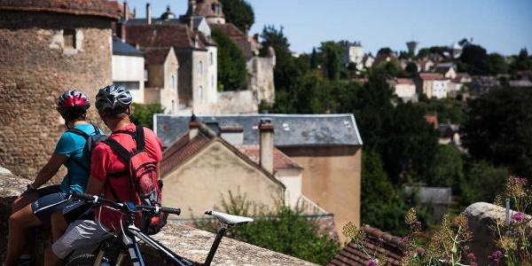 Point de vue sur la ville d'Avallon