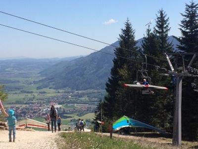 An der Bergstation der Hochplattenbahn