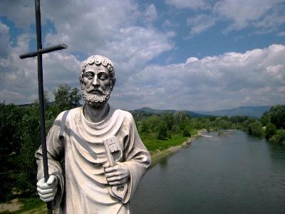 Serchio-Brücke kurz vor Lucca