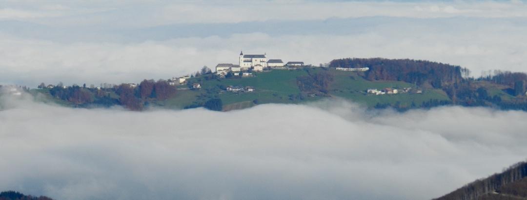 Hirschkogel Richtung Basilika Sonntagberg Donautal