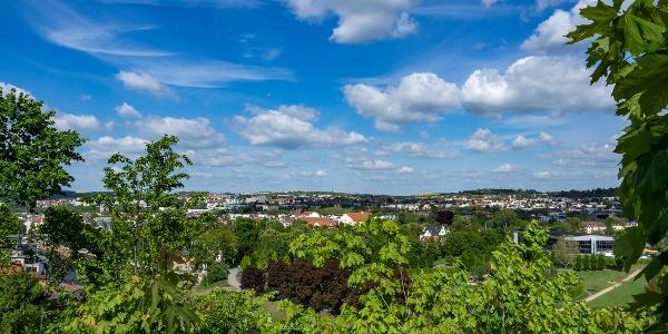 Panoramablick vom Osterstein Gera