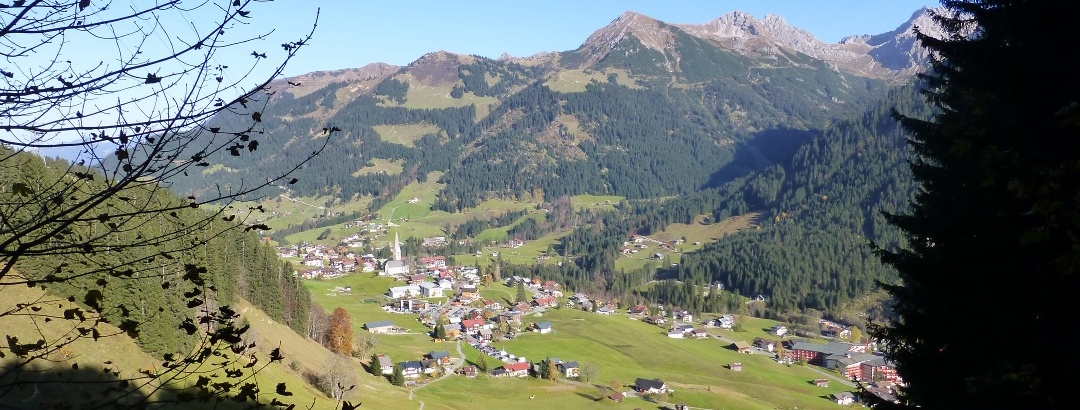 Abstieg nach Mittelberg