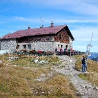 Unser Etappenziel: Die Fiderepasshütte!