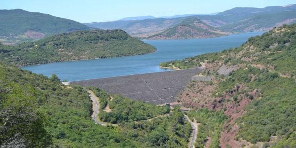 Barrage du Salgou vue du Plateau de Germane
