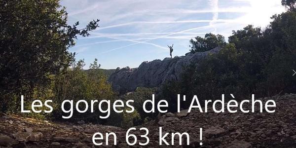 Sortie dans les gorges de l'Ardèche